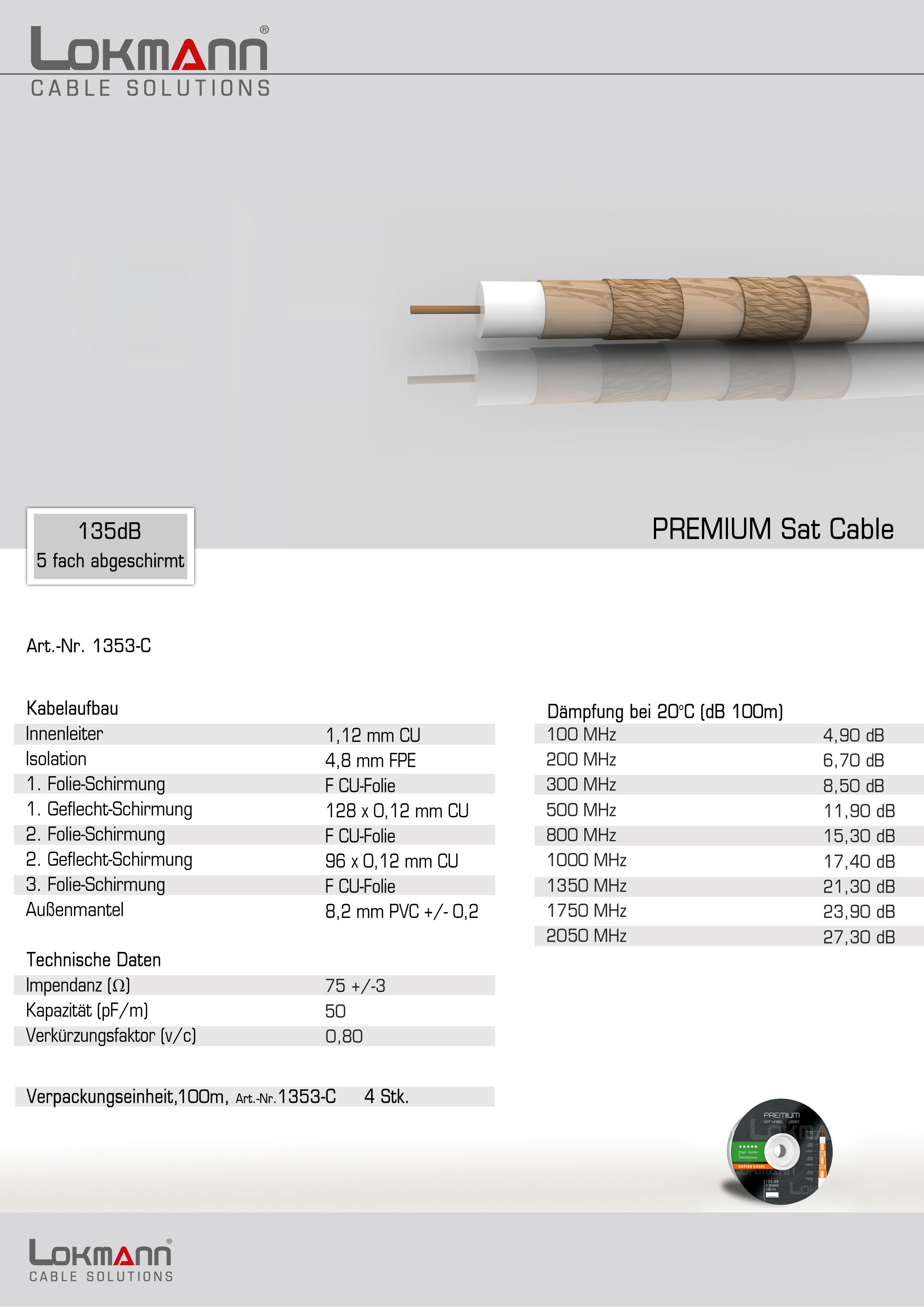 Lokmann Premium Koax Sat Kabel Bei diesem Kabel handelt es sich um ...
