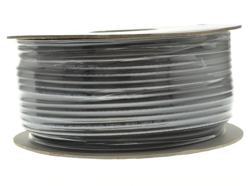 koax koaxial 100m kabel 100db uv best ndig erdkabel schwarz sat innen aussen. Black Bedroom Furniture Sets. Home Design Ideas