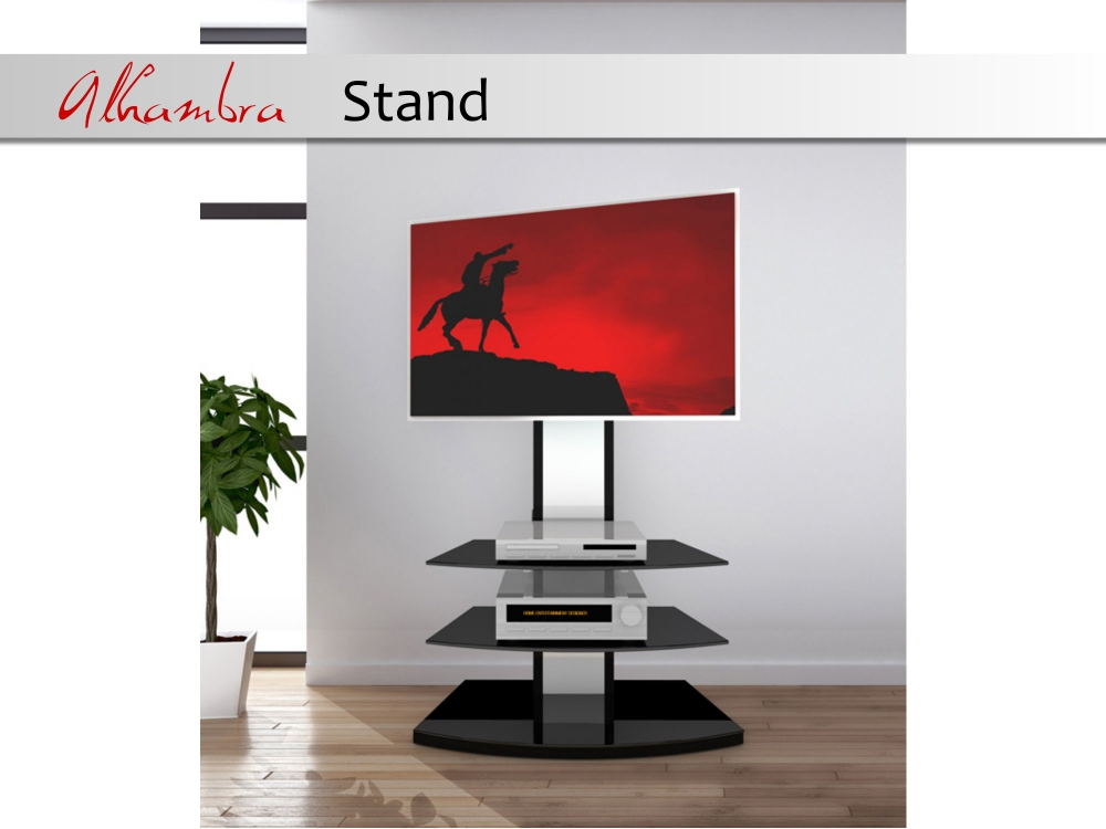 casado alhambra stand led lcd tv standkonsole standfu rack tr gersystem ebay. Black Bedroom Furniture Sets. Home Design Ideas