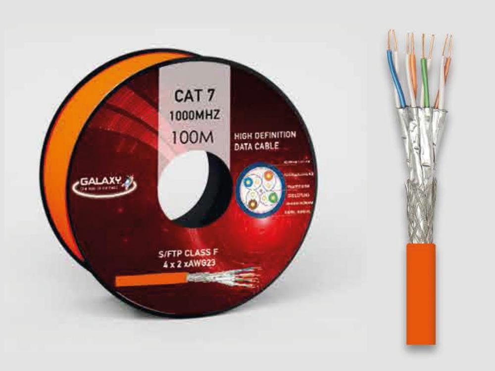 cat 7 100m verlegekabel s ftp 1000 mhz kupfer in poe lan netzwerk internet kabel ebay. Black Bedroom Furniture Sets. Home Design Ideas