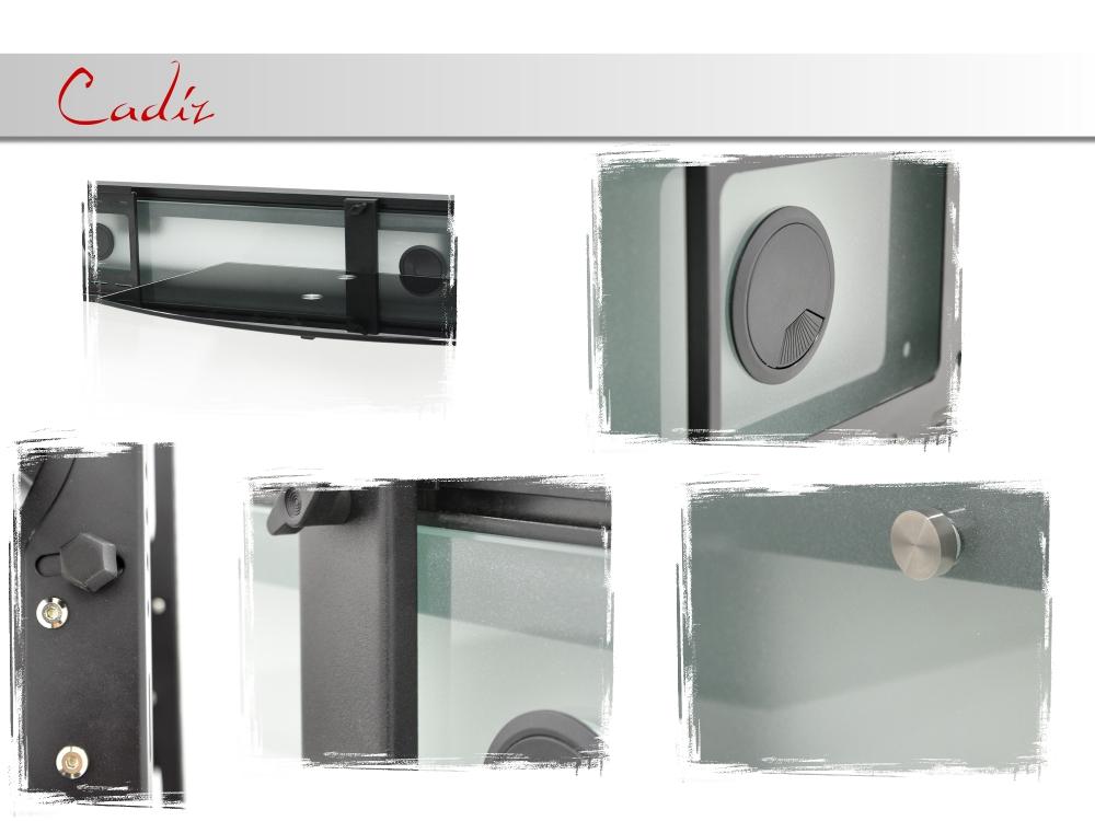 casado cadiz wand tv hifi wandkonsole wandpaneel wandhalterung 3 farben. Black Bedroom Furniture Sets. Home Design Ideas