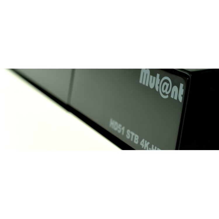 Mutant / Mut@nt HD51 4K-UHD E2 Linux Receiver 1xDVB-S2 Tuner + 150Mbit WLAN Stick