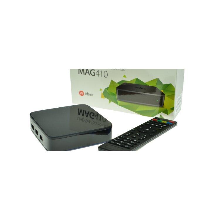 Infomir MAG 410 UHD 4K Video Android IPTV Receiver mit Stalker,Wi-Fi,,  74,70 €