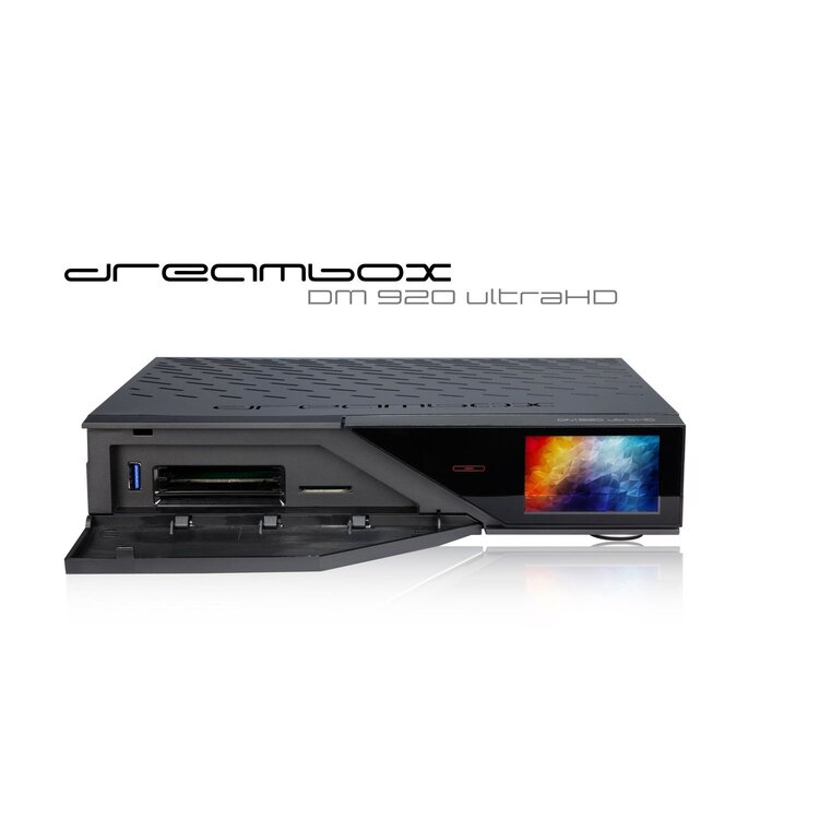 Dreambox DM 920 (Triple Tuner (DVB-S2 Dual + DVB-C/T2 Single) + DVB-S2 FBC Twin Tuner + 2TB 2,5 Zoll Festplatte)