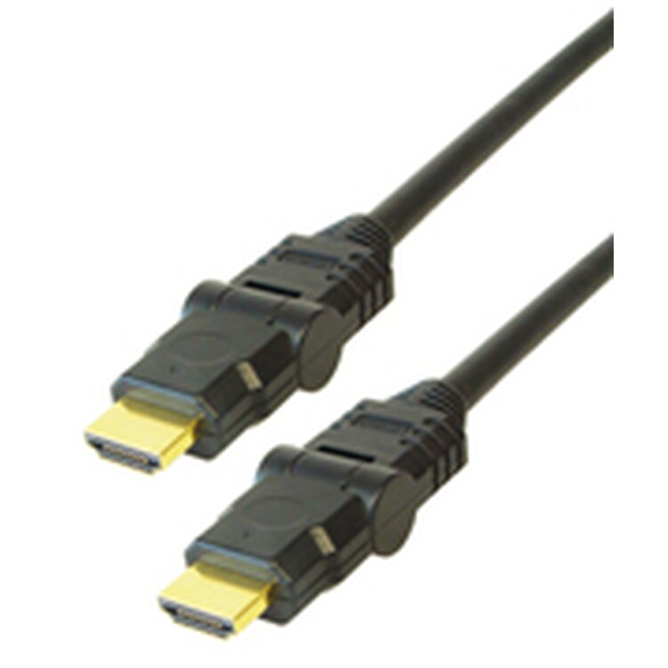 High Speed HDMI-Kabel mit Ethernet 1,5 m Winkelstecker