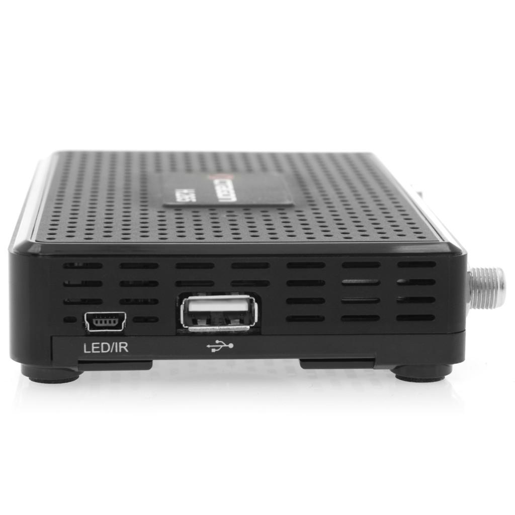 Linke Seite der SX88+ haben Sie den Anschluss für externe Infrarot Empfänger und eine weitere USB 2.0 Buchse